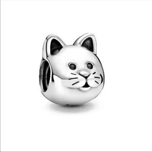Authentic 925 Sterling Silver Charm Bead - Cat